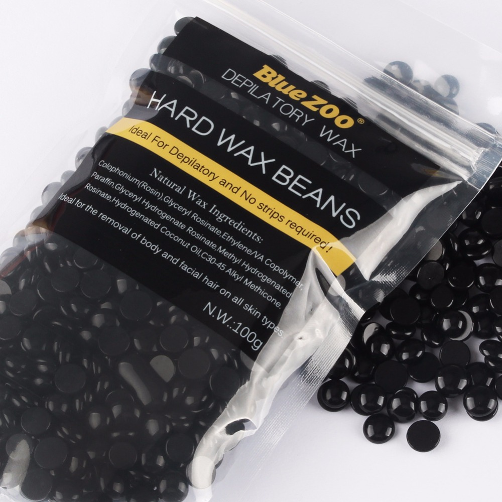 Pelet lilin depilatory baru Black Brazilian Hot Film Lilin Kacang keras Untuk Lelaki Penghapusan rambut Tiada Strip Lilin Manik 100G