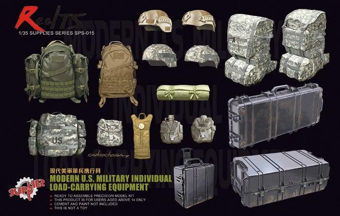 RealTS Meng Modèle 1/35 SPS-015 Moderne US Militaire Charge Individuelle-Transportant Du Matériel en plastique modèle kit