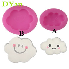 Biscuit Mold Chocolate-Mold Cloud Smiley Cake-Baking Fondant Silicone DIY Cute New