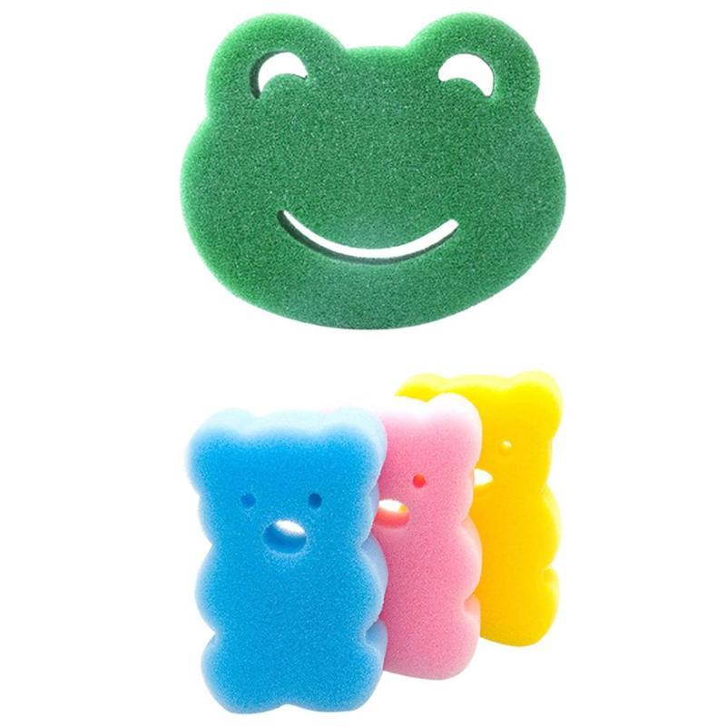 Baby Soft Sponge Bath Brushes Kids Cartoon Shape Bathing Shower Products Children Bathroom Rubbing Brush Infant Drawing Tool Toy