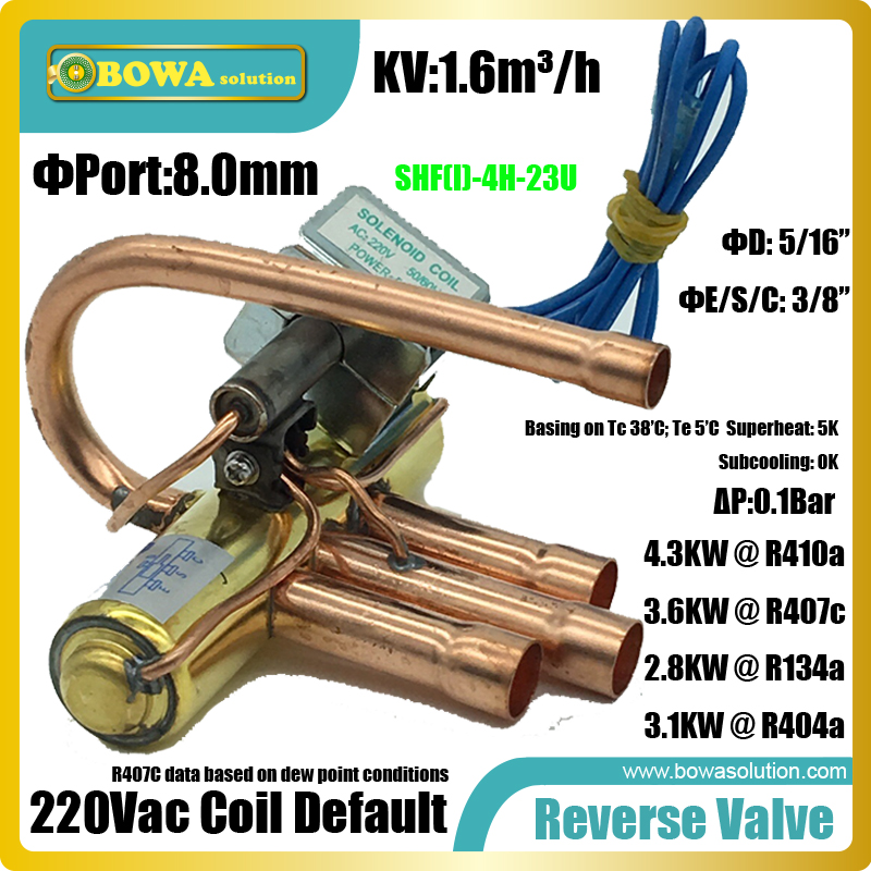 1TR 4-Way reverse solenoid valves used in freezer display or other freezer equipment for defrost by changeing gas flow direction honeywell solenoid gas valves ve4050a1200 ve4050a1002 for burner new