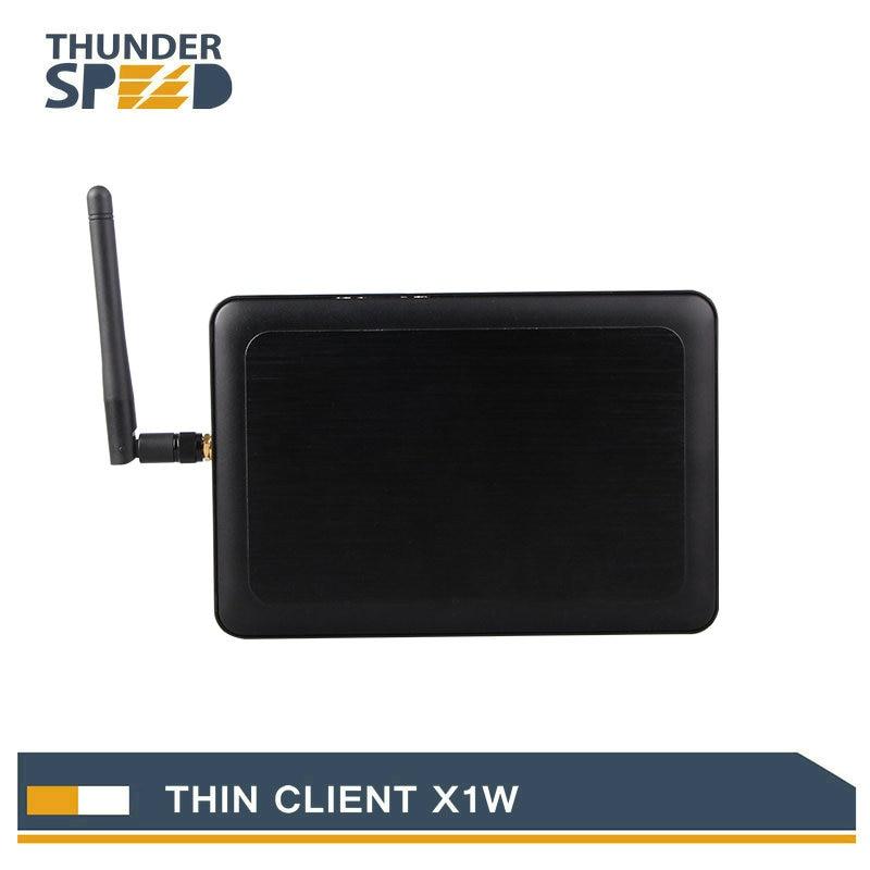 Newest Cheap WIFI Thin Client PC Share Box X1W All Winner A20 HDMI VGA 512M RAM 2G Flash Linux 3.4 Embedded RDP 7 Protocol