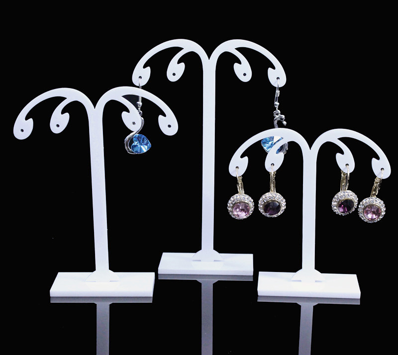 Lot Of 3 Acrylic Earrings Display Stand  Black&White&Clear Earrings Stand  Earrings Display Holder Jewellery Display Holder