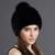 Cap Chapéu de Pele De Vison Real Com Pele De Raposa Pompons Chapéus Para As Mulheres nova Marca Engrosse Feminino Tampão Do Inverno Gorros de Malha Venda Quente de Pele De Vison