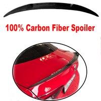 Задний багажник Высокое качество углерода волокно черный цвет Спойлеры для Alfa Romeo Giulia 2015 до 2019 крылья спойлер Quadrifoglio стиль