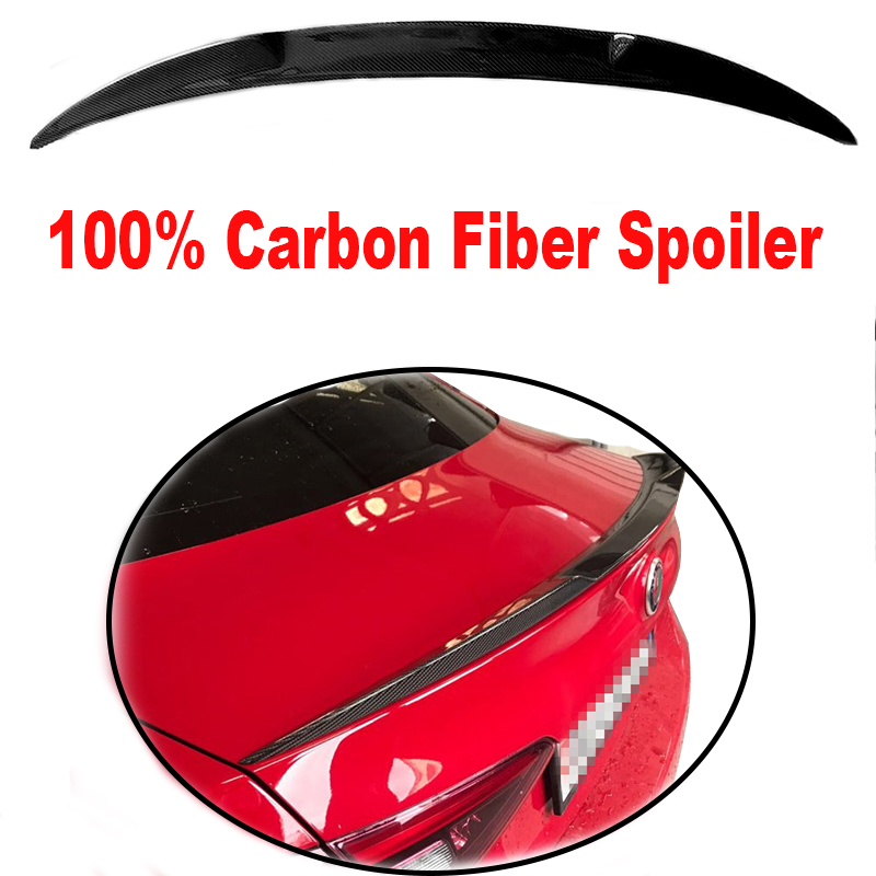 Rear Trunk High Quality Carbon Fiber Black Color Spoilers