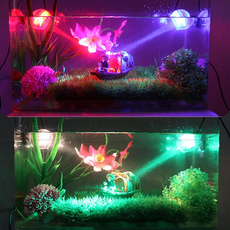 Аквариум светодиодное освещение водонепроницаемый подводный прожектор морская ночь/Дайвинг Свет аквариумная лампа украшение аксессуары ...