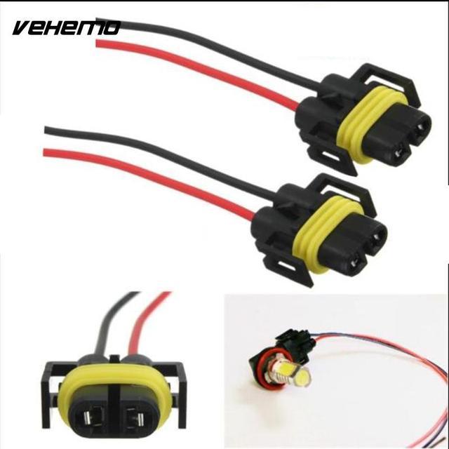 1pc h11 h8 car led light headlight fog light adapter harness socket wire  cord connector waterproof wiring harness sockets