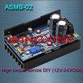 Бесплатная доставка, ASMB-02-высокий крутящий момент servo сервоконтроллер DIY/12 В-48 В/20A 1000N. m