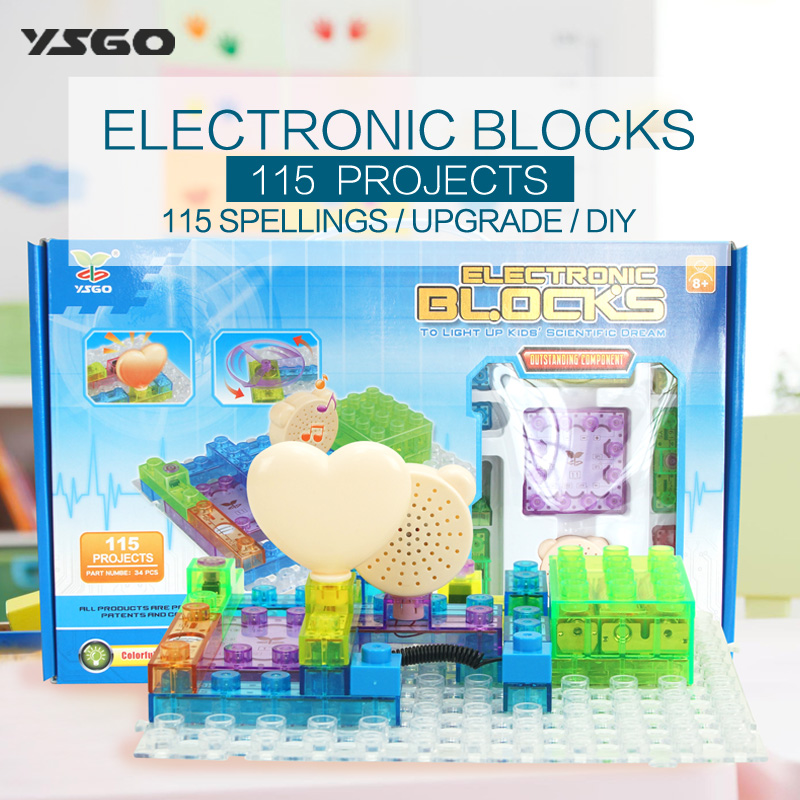 New Educational Toys for kids Game Electronic Building Blocks Sets Enlighten Bricks Physics Learning Best Gift for Children ...
