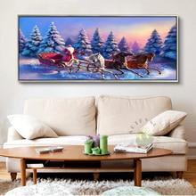 Pintura artística De lienzo sin marco, cuadros De decoración De pared Vintage para el hogar para arte De sala De estar, grandes y baratos Santa Claus