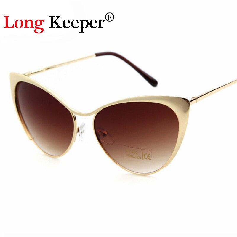 ca30b54d6 حارس جديد القط العين النظارات السيدات ستار نمط طويل سبائك معدنية إمرأة  ماركة تصميم مثير eyewares STY6010