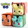 Pokemon Pikachu Bulbasaur Kid Plush Mini Storage Box Pencil Case Decor Plush Toy Doll 11.5x11.5x11.5cm