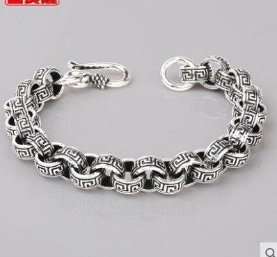Bracelet hommes hommes bracelets 2019 925 bracelet en argent sterling