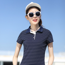 Hoffen 2017 New Arrivals Summer Women Top Tee Striped Slim Fit Classic Polo Shirts Cotton Comfortable Polo Femme Camisa Feminina