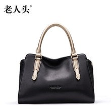 LAORENTOU new genuine leather bag famous brand luxury fashion Superior cowhide leather women handbags shoulder bag women bag