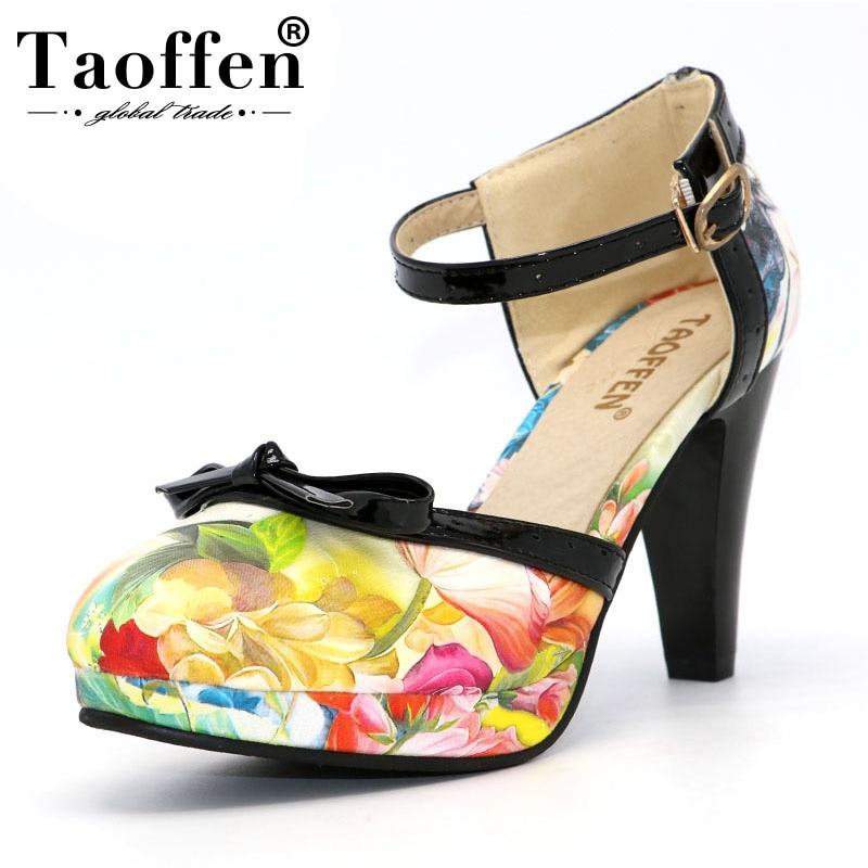 02910aee Comprar TAOFFEN Plus Tamaño 32 48 Del Alto Talón De Las Mujeres ...