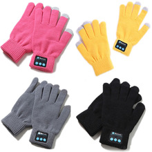 Knit Warm Mittens Call Talking Screen Touch Gloves Winter Bluetooth Gloves For W