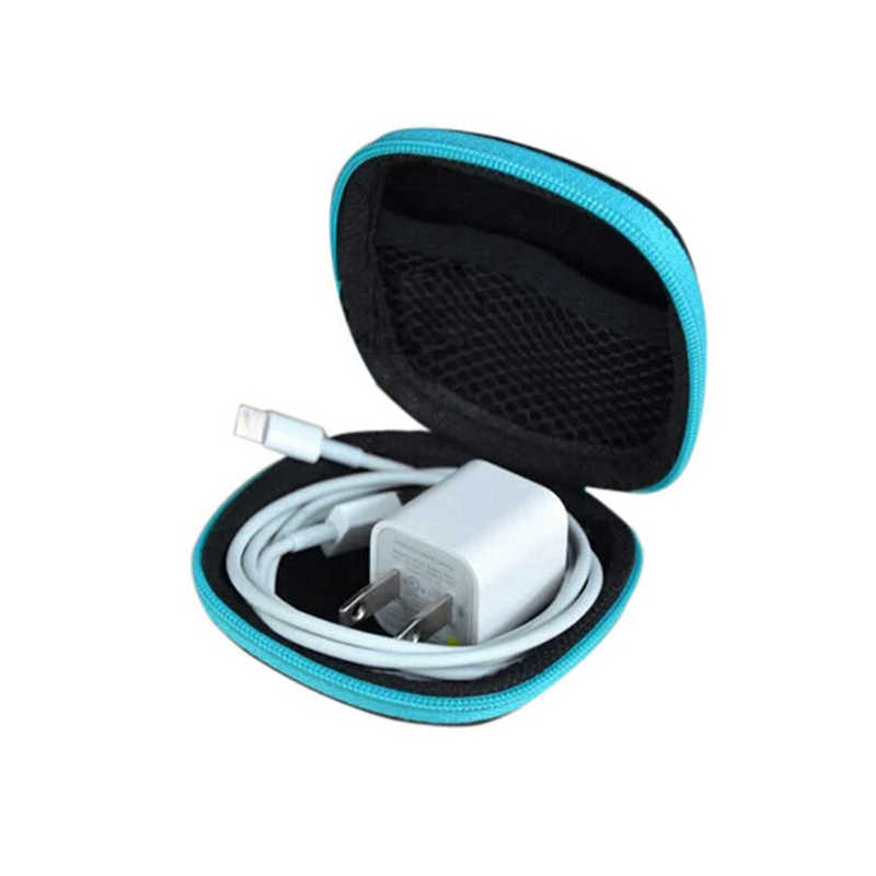 Random color Clip Holder Clip Dispenser Desk Organizer Bags Headphones Earphone Cable Earbuds Storage Pouch bag
