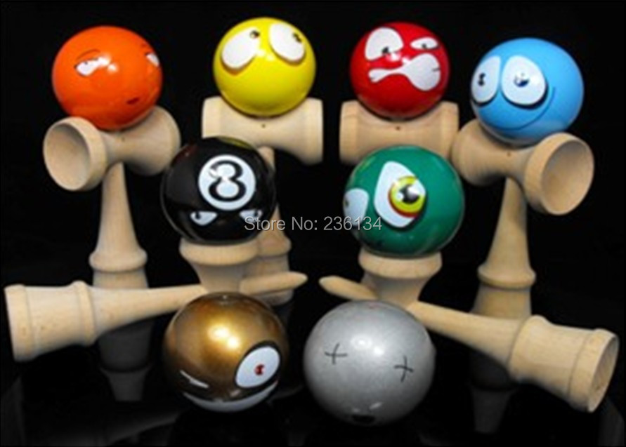 Professional! 18.5cm Funny Japanese facebook Traditional Wood Game Toy Kendama Ball funny fishing game family child interactive fun desktop toy