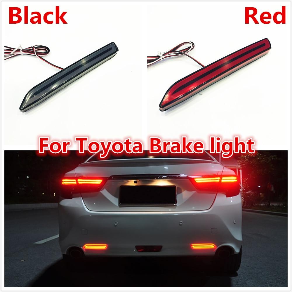 Two Functions SODIAL Led Car Rear Bumper Reflector Tail Brake Light Bar For Toyota Camry Reiz Wish Sienna Innova Lexus Isf Gx470 Rx300