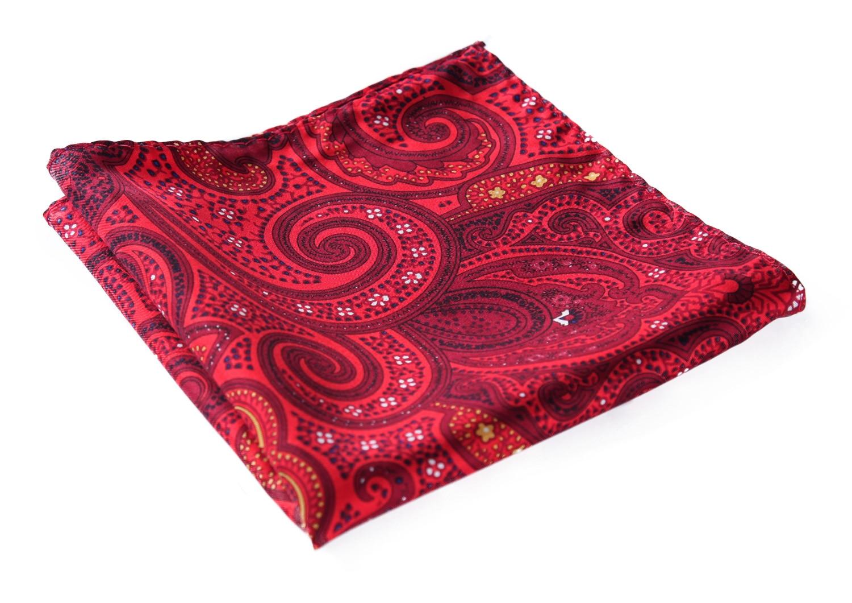 HN04R Handkerchief 100% Natural Silk Satin Mens Hanky Wedding Pocket Square