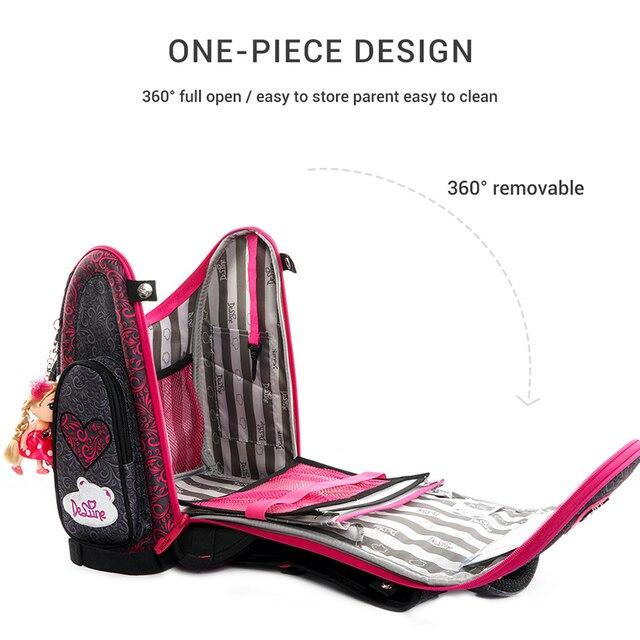 Delune 2019 New Cartoon School Bags Backpack for Girls Boys Flower Pattern Children Orthopedic Backpack Mochila Infantil Grade 3 1