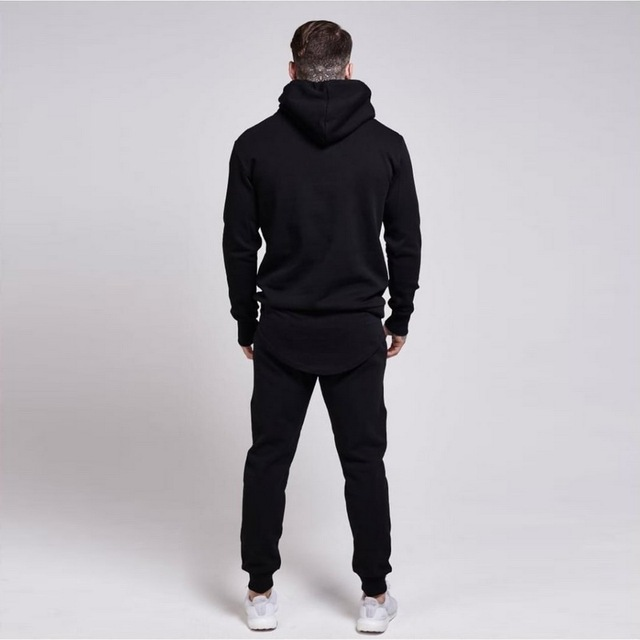 New Gyms tracksuit men pants Sets Fashion Sweatshirt sweat suits brand Sik Silk embroidery casual fitness Outwear jogger set 1