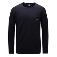 Fredd Marshall New Autumn Long Sleeve T Shirt Men Brand O Neck Warm Solid Color Male