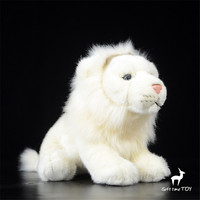 Lion doll High quality simulation of African lions white lions simulation animals stuffed toys gifts