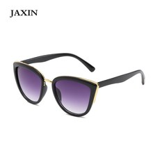 JAXIN Gafas de sol mujer Sexy Fashion Cat Eye Sunglasses Women cute versatile Sun Glasses Ms brand design classic goggles UV400
