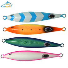 160g UV lead fishing lures 4colors luminous saltwater trolling metal slow jigging big game jig baits