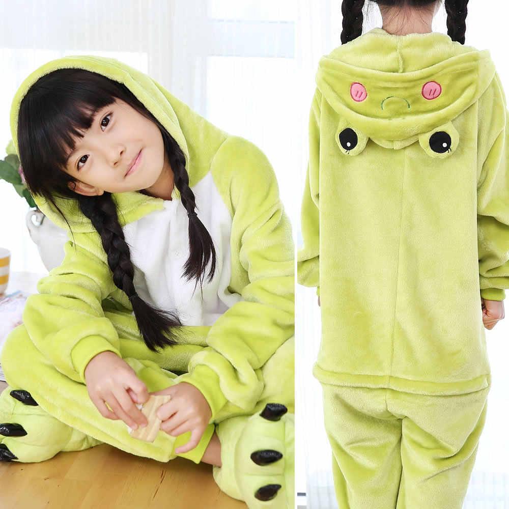... EOICIOI фланель животных Единорог для мальчиков пижамы для девочек с  капюшоном детская одежда для сна с ad7cfc13d1efe