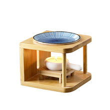 Home&Party Decor Natural Bamboo Art Aroma Oil Lamps ceramic Incense Burner Candle Essential Oil Heater kaaral happy sun bamboo oil