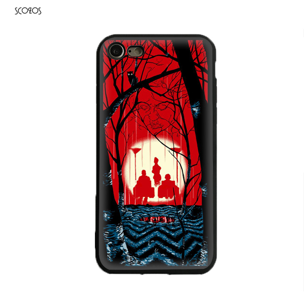 SCOZOS Welcome to twin peaks Silicone phone case soft Cover For Iphone X 5 5S Se 6 6S 7 8 6 Plus 6S Plus 7 Plus 8 Plus #ta961
