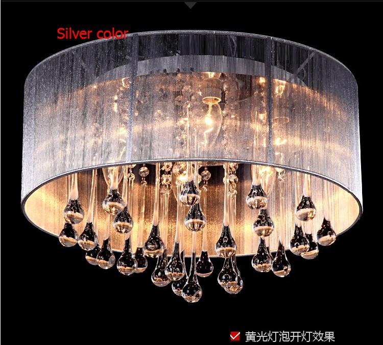 silver crysatl lamp