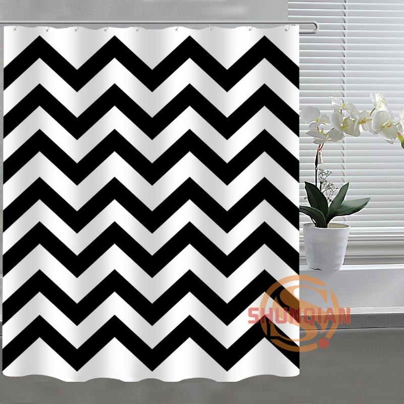 Classic Chevron Latest Custom Shower Curtain Best Classical Bathroom Decor  Curtains Bath Screens(China (