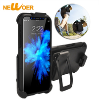 Military Belt Clip Case For IPhone X Sports Case Shockproof 360 Degrees Rotation Phone Ring Holster