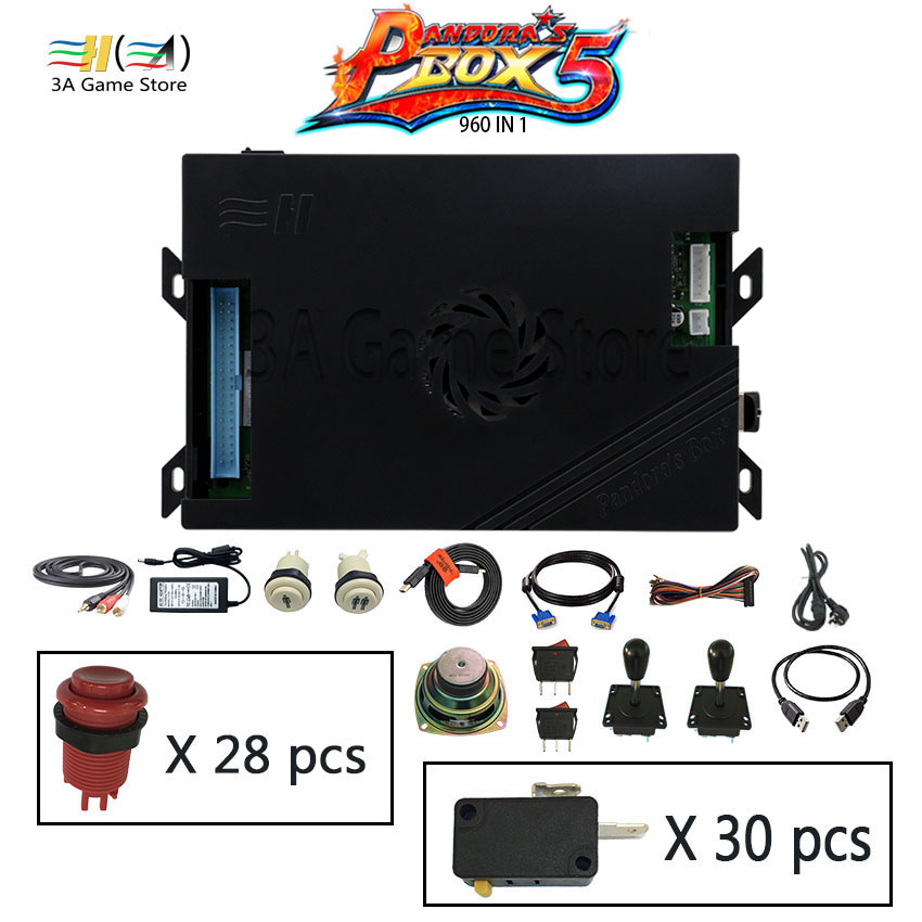 Usb arcade joystick buttons speaker diy machine parts kit Pandora box 5 960 in 1 arcade controller console video game cabinet
