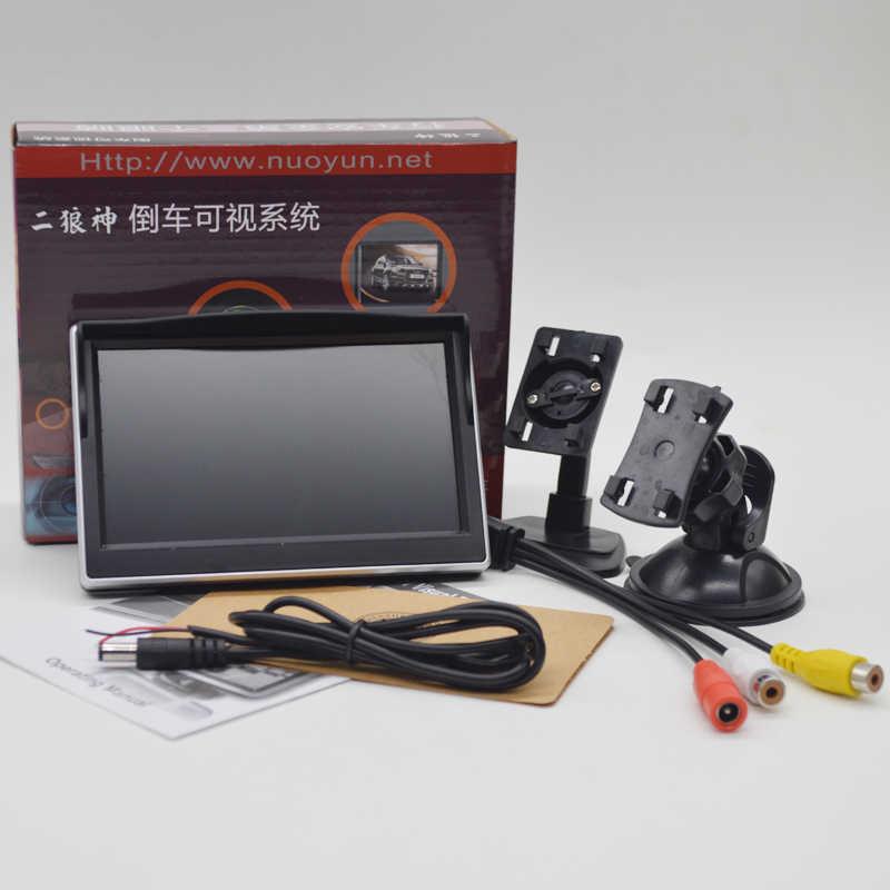 5 дюймов Цвет TFT ЖК дисплей автомобиля мониторы для резервного копирования Обратный Система автоматической парковки подходит всех транспортных средств