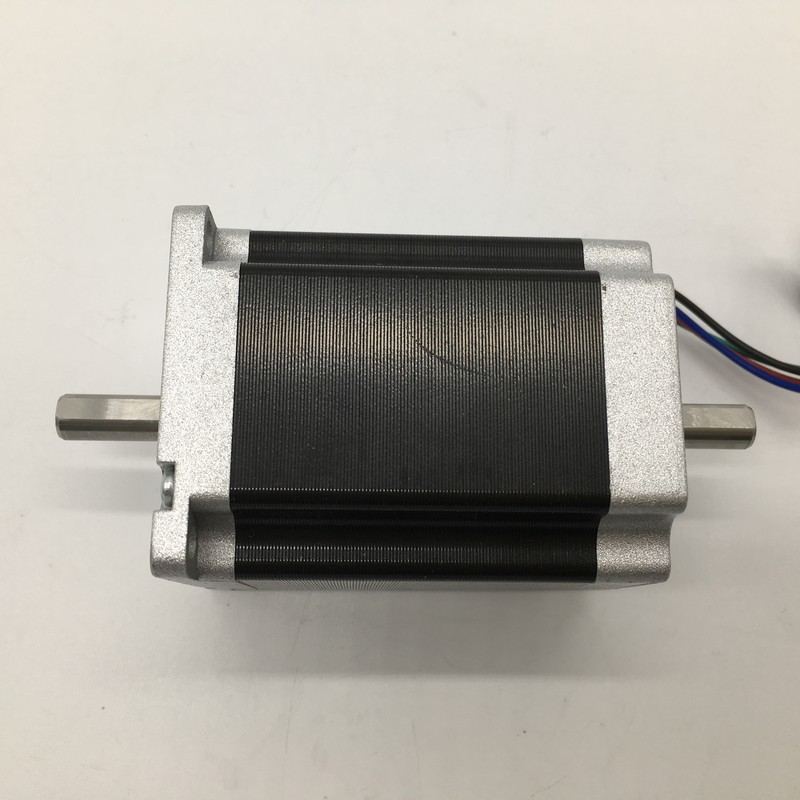 Nema23 Stepper Motor Dual Shaft 57*100mm 4.2A 2.5Nm 360Oz-in 2ph 4 Wires High Torque for CNC Router Lathe