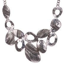 1d4629a89293 Estilo Europeo vintage joyería declaración collar cobre antiguo plata color  collar Maxi collares Mujeres Partido regalo N1737