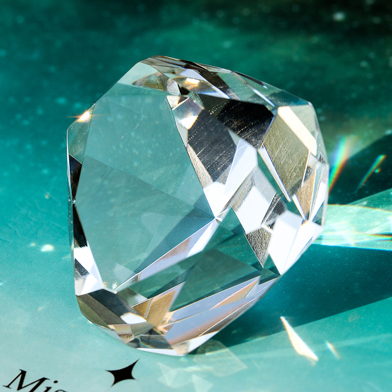 K9 Crystal Triangle Diamond Cut Glass Jewelry Paperweight Crafts Collection Souvenir Birthday Christmas Wedding Gifts Decoration