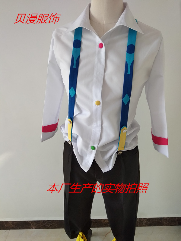 Image 4 - Tokyo Ghoul Cartoon Anime Cosplay JUZO SUZUYA REI Cos Man Woman Halloween Cosplay Costume Set Top+Pants+Strap+Knee Pads+Slippers-in Anime Costumes from Novelty & Special Use