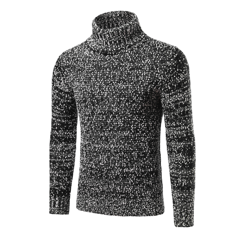 Men Sweater Winter Cashmere Knitted Sweaters Warm Turtleneck Pullovers 2017 New Hot Sale Sweater Standard Clothes
