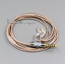 LN006365 Hi Res Silver Plated XLR 3.5mm 2.5mm 4.4mm Earphone Cable For Sony MDR EX1000 MDR EX600 MDR EX800 MDR 7550