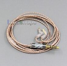 LN006365 Hi res Argent Plaqué XLR 3.5mm 2.5mm 4.4mm Câble Ecouteur Pour Sony MDR EX1000 MDR EX600 MDR EX800 MDR 7550
