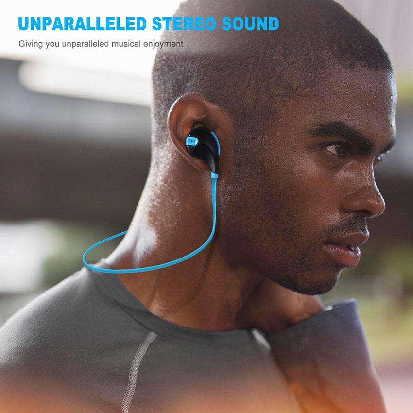 Aimitek Bluetooth Earbuds Sports Headsets CSR Wireless Headphones Stereo Handsfree Earphones with MIC for iPhone Smartphones 6