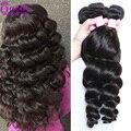 Peruvian Loose Wave 4 Bundles 7a Unprocessed Virgin Hair Curly Human Hair Extensions Sexy Hair Product Peruvian Hair Loose Wave