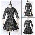 SML2026 2017 Factory Actual Images A line High class Lace with sleeve short mini cocktail dress party dresses